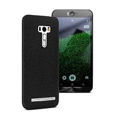 Funda Dura Plastico Rigida Fino Arenisca para Asus Zenfone Selfie ZD551KL Negro