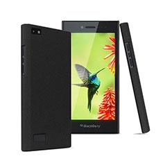 Funda Dura Plastico Rigida Fino Arenisca para Blackberry Leap Negro