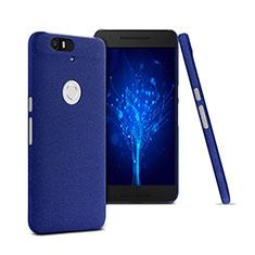 Funda Dura Plastico Rigida Fino Arenisca para Google Nexus 6P Azul