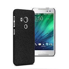 Funda Dura Plastico Rigida Fino Arenisca para HTC Butterfly 3 Negro