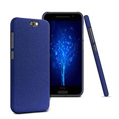 Funda Dura Plastico Rigida Fino Arenisca para HTC One A9 Azul
