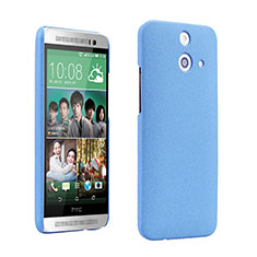 Funda Dura Plastico Rigida Fino Arenisca para HTC One E8 Azul