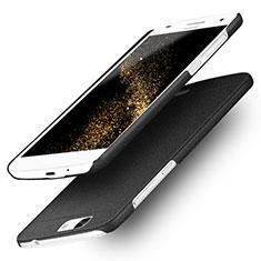 Funda Dura Plastico Rigida Fino Arenisca para Huawei Ascend G7 Negro