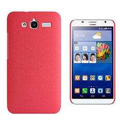Funda Dura Plastico Rigida Fino Arenisca para Huawei Ascend GX1 Rojo