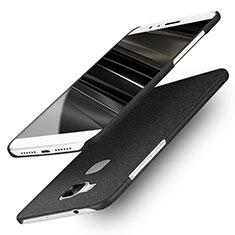 Funda Dura Plastico Rigida Fino Arenisca para Huawei G7 Plus Negro