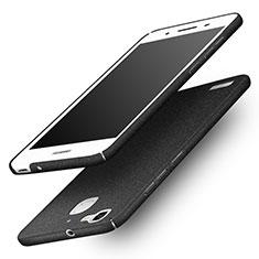 Funda Dura Plastico Rigida Fino Arenisca para Huawei G8 Mini Negro