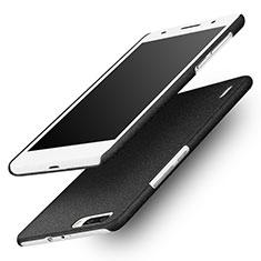 Funda Dura Plastico Rigida Fino Arenisca para Huawei Honor 6 Plus Negro