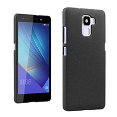 Funda Dura Plastico Rigida Fino Arenisca para Huawei Honor 7 Dual SIM Negro