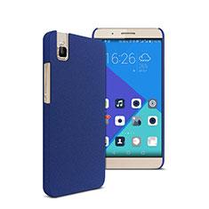 Funda Dura Plastico Rigida Fino Arenisca para Huawei Honor 7i shot X Azul