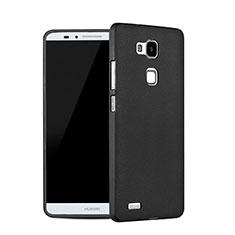 Funda Dura Plastico Rigida Fino Arenisca para Huawei Mate 7 Negro