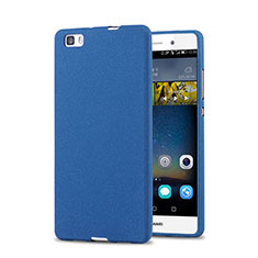 Funda Dura Plastico Rigida Fino Arenisca para Huawei P8 Lite Azul