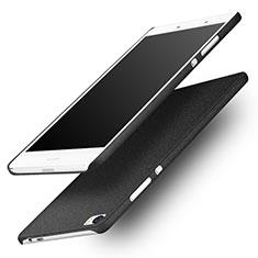 Funda Dura Plastico Rigida Fino Arenisca para Huawei P8 Max Negro