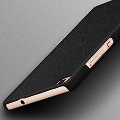 Funda Dura Plastico Rigida Fino Arenisca para Huawei P8 Negro