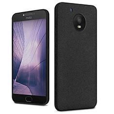Funda Dura Plastico Rigida Fino Arenisca para Motorola Moto E4 Plus Negro