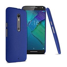 Funda Dura Plastico Rigida Fino Arenisca para Motorola Moto X Style Azul