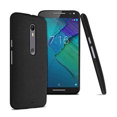 Funda Dura Plastico Rigida Fino Arenisca para Motorola Moto X Style Negro