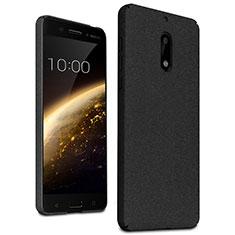 Funda Dura Plastico Rigida Fino Arenisca para Nokia 6 Negro