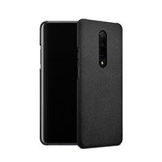Funda Dura Plastico Rigida Fino Arenisca para OnePlus 7 Pro Negro
