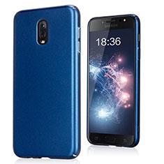 Funda Dura Plastico Rigida Fino Arenisca para Samsung Galaxy C8 C710F Azul