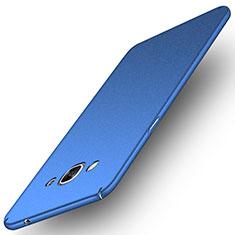 Funda Dura Plastico Rigida Fino Arenisca para Samsung Galaxy J3 Pro (2016) J3110 Azul