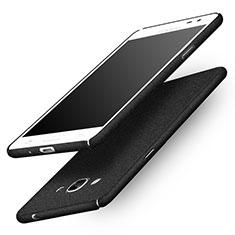 Funda Dura Plastico Rigida Fino Arenisca para Samsung Galaxy J3 Pro (2016) J3110 Negro