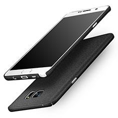 Funda Dura Plastico Rigida Fino Arenisca para Samsung Galaxy Note 5 N9200 N920 N920F Negro