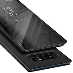Funda Dura Plastico Rigida Fino Arenisca para Samsung Galaxy Note 8 Negro
