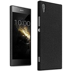 Funda Dura Plastico Rigida Fino Arenisca para Sony Xperia XA1 Negro
