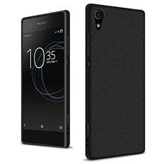 Funda Dura Plastico Rigida Fino Arenisca para Sony Xperia XA1 Ultra Negro