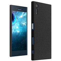 Funda Dura Plastico Rigida Fino Arenisca para Sony Xperia XZ Negro