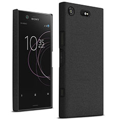 Funda Dura Plastico Rigida Fino Arenisca para Sony Xperia XZ1 Compact Negro