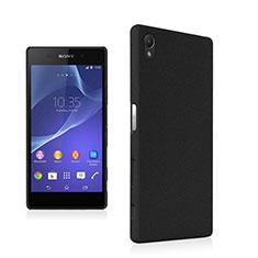 Funda Dura Plastico Rigida Fino Arenisca para Sony Xperia Z5 Negro