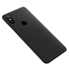 Funda Dura Plastico Rigida Fino Arenisca para Xiaomi Mi Max 3 Negro