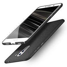 Funda Dura Plastico Rigida Fino Arenisca Q01 para Huawei Mate 9 Lite Negro