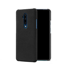 Funda Dura Plastico Rigida Fino Arenisca Q01 para OnePlus 7T Pro Negro