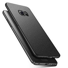 Funda Dura Plastico Rigida Fino Arenisca Q01 para Samsung Galaxy S6 Duos SM-G920F G9200 Negro