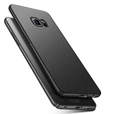 Funda Dura Plastico Rigida Fino Arenisca Q01 para Samsung Galaxy S6 SM-G920 Negro