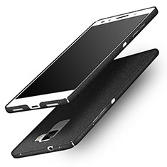 Funda Dura Plastico Rigida Fino Arenisca R01 para Huawei Honor 7 Dual SIM Negro