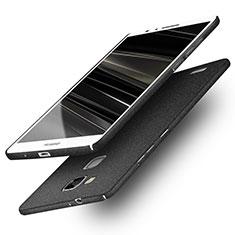 Funda Dura Plastico Rigida Fino Arenisca R01 para Huawei Mate 7 Negro