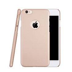 Funda Dura Plastico Rigida Mate con Agujero para Apple iPhone 6S Oro Rosa
