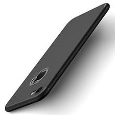 Funda Dura Plastico Rigida Mate con Agujero para Apple iPhone 8 Negro