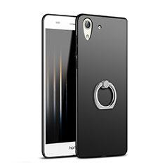 Funda Dura Plastico Rigida Mate con Anillo de dedo Soporte A02 para Huawei Honor 5A Negro