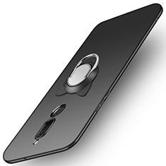 Funda Dura Plastico Rigida Mate con Anillo de dedo Soporte A02 para Huawei Mate 10 Lite Negro