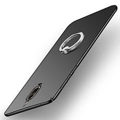 Funda Dura Plastico Rigida Mate con Anillo de dedo Soporte A02 para Huawei Mate 9 Pro Negro