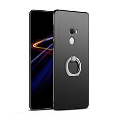 Funda Dura Plastico Rigida Mate con Anillo de dedo Soporte A02 para Xiaomi Mi Mix Negro