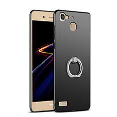 Funda Dura Plastico Rigida Mate con Anillo de dedo Soporte A03 para Huawei G8 Mini Negro