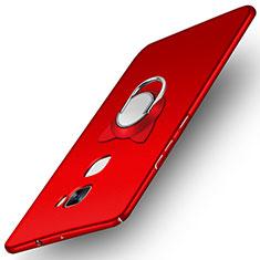 Funda Dura Plastico Rigida Mate con Anillo de dedo Soporte A03 para Huawei Mate S Rojo