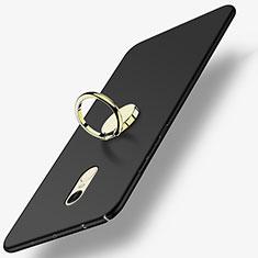 Funda Dura Plastico Rigida Mate con Anillo de dedo Soporte A03 para Xiaomi Redmi Note 4 Negro