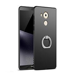 Funda Dura Plastico Rigida Mate con Anillo de dedo Soporte A06 para Huawei Mate 8 Negro