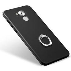 Funda Dura Plastico Rigida Mate con Anillo de dedo Soporte para Huawei Honor 6C Negro